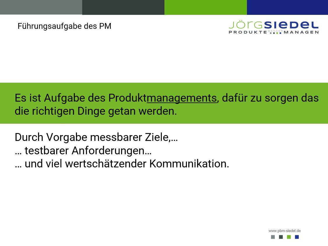 Aufgabe Produktmanager - Produktmanagement